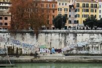 Man and graffiti
