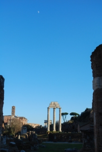 Moon over Rome