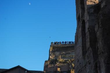 Moon over Tourists