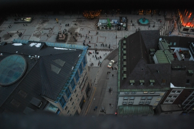 Looking down on Munich