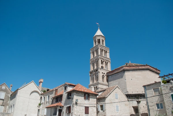Tower of the Cathedral of Saint Domnius in centre Split.