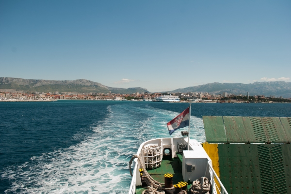 Aboard the ferry from Split to Rogač.