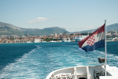 The particular ferry we chose went to the island of Šolta, to the port village of Rogač. Traveling my boat is by far my favourite way to travel, and I'll admit I was disappointed the ride was barely an hour.